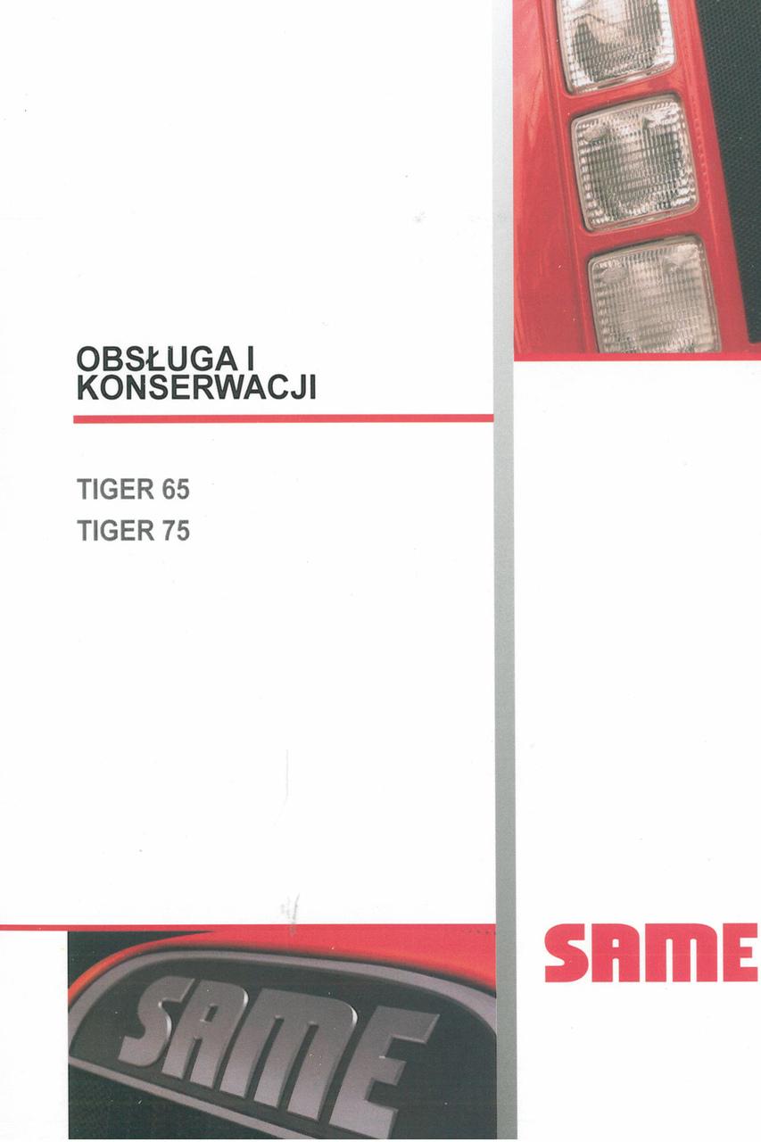 TIGER 65 - TIGER 75 - Obsluga i konserwacji