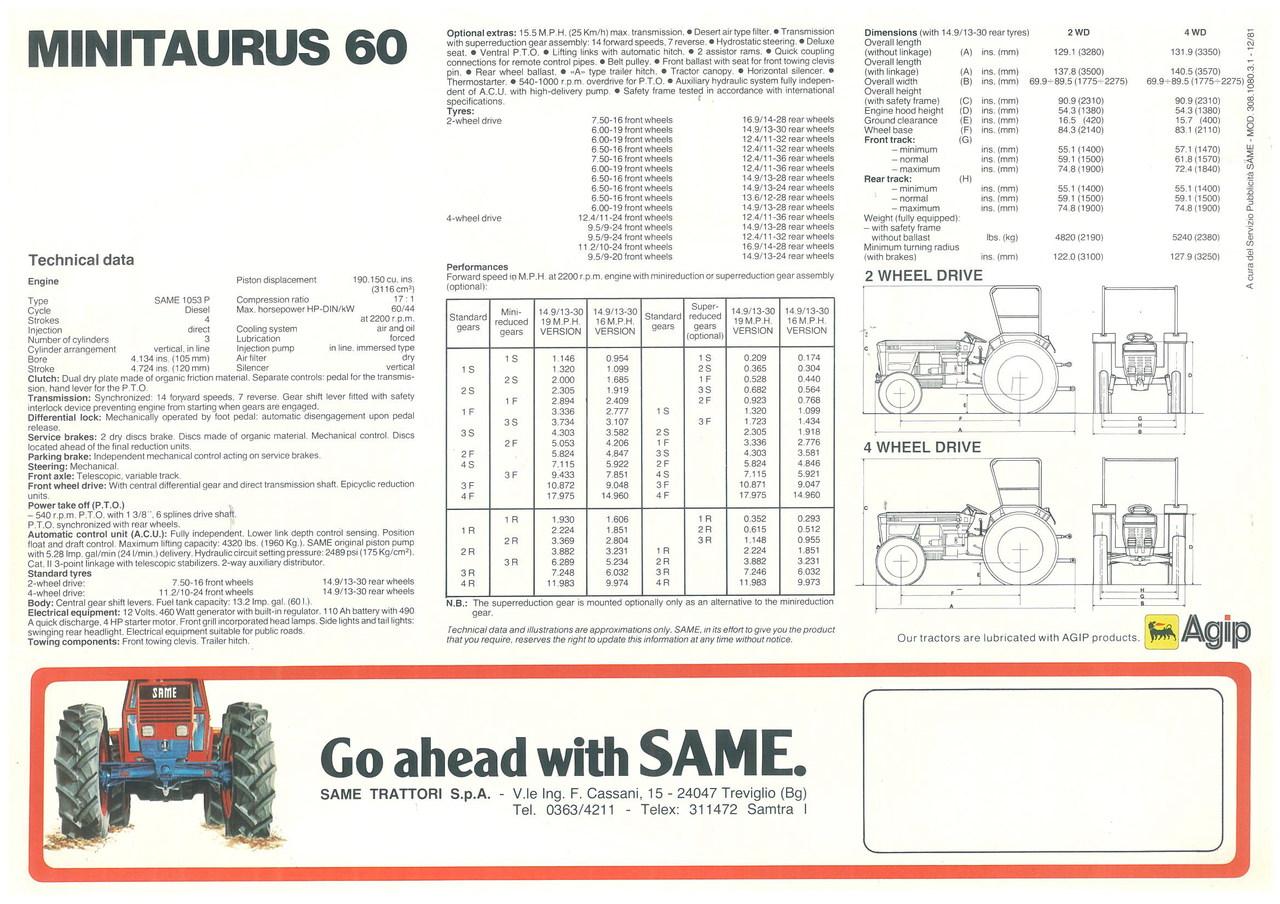 MINITAURUS 60