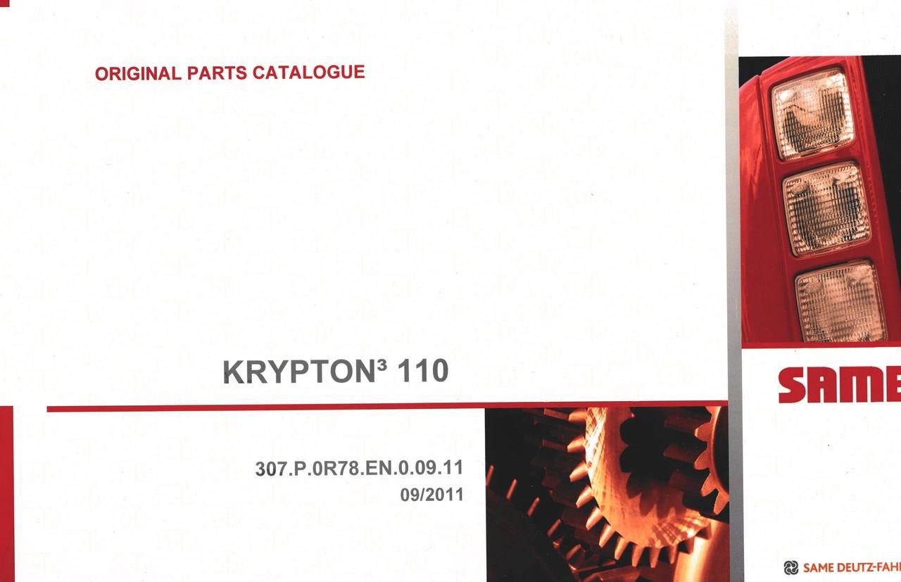 KRYPTON³ 110 - Original parts catalogue