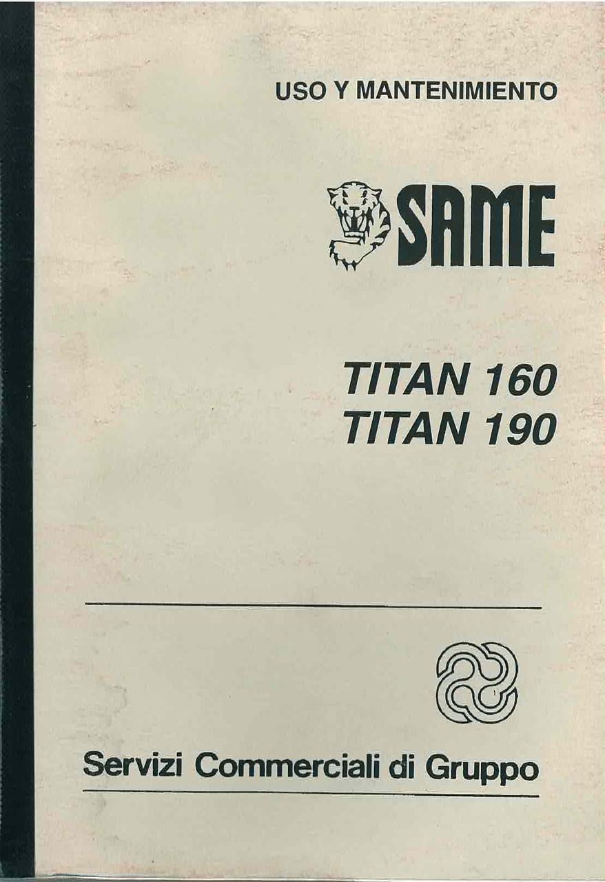 TITAN 160 - 190 - Uso y manutencion