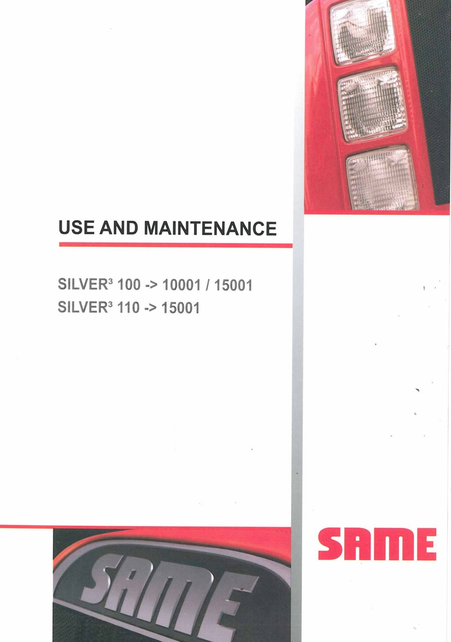 SILVER³ 100 - SILVER³ 110 - Use and Maintenance