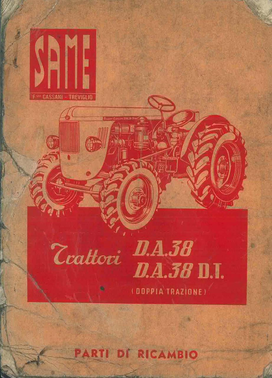 DA 38-DA 38 DT Catalogo Parti di ricambio