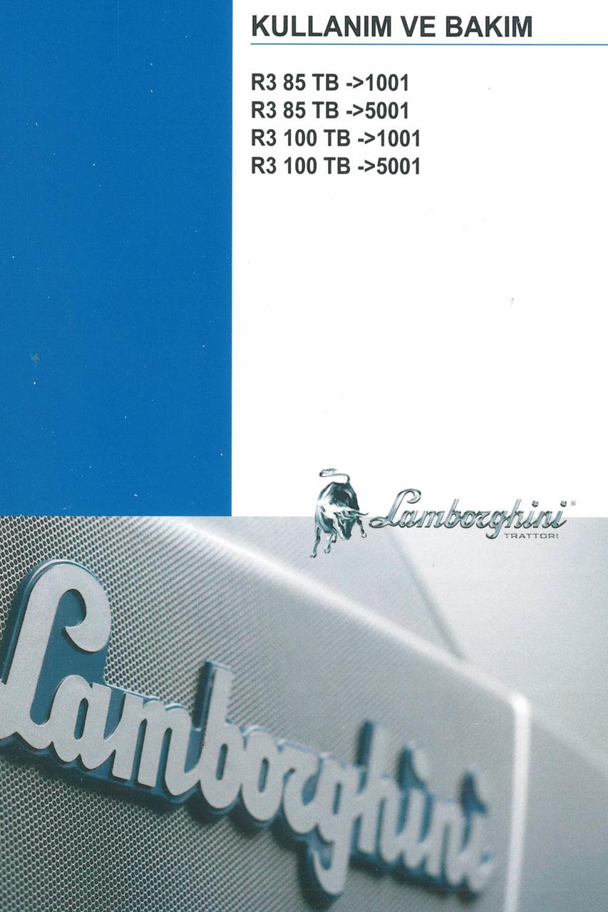 R3 85 TB ->1001 - R3 85 TB ->5001 - R3 100 TB ->1001 - R3 85 TB ->5001 - Kullanim ve bakim