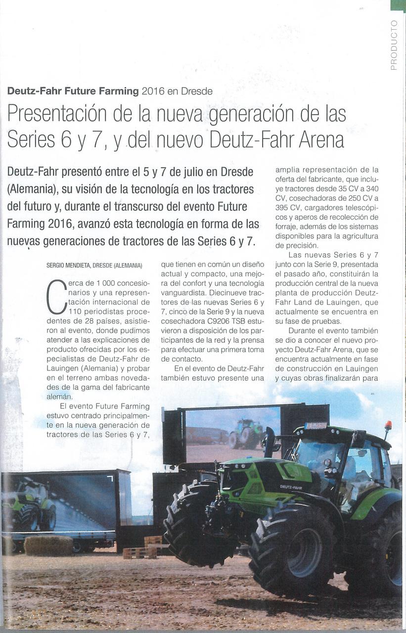 Presentación de la nueva generación de las Series 6 y 7, y del nuevo Deutz-Fahr Arena