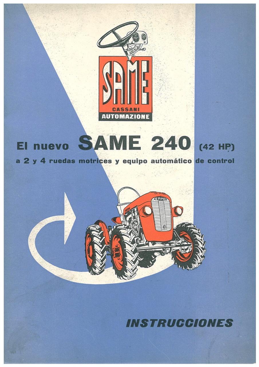 SAME 240 (42HP) - Uso y manutencion
