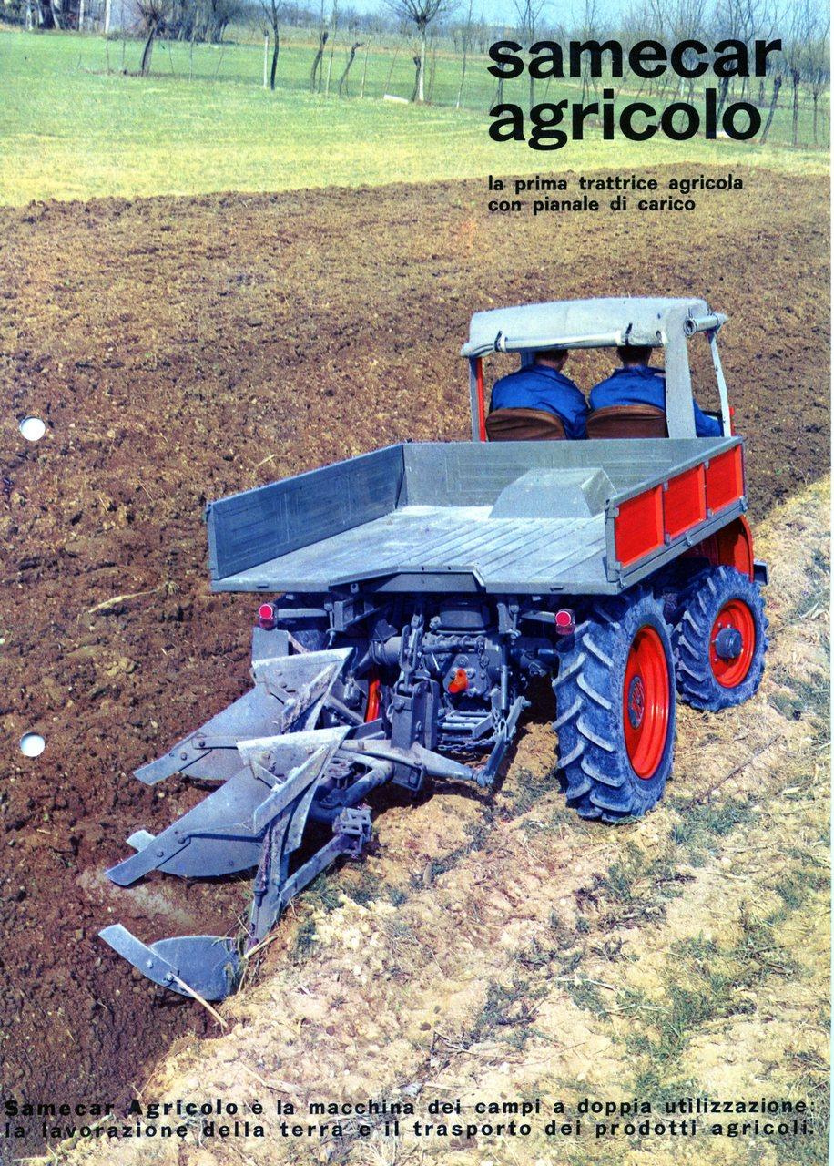 Samecar Agricolo - la prima trattrice agricola con pianale di carico