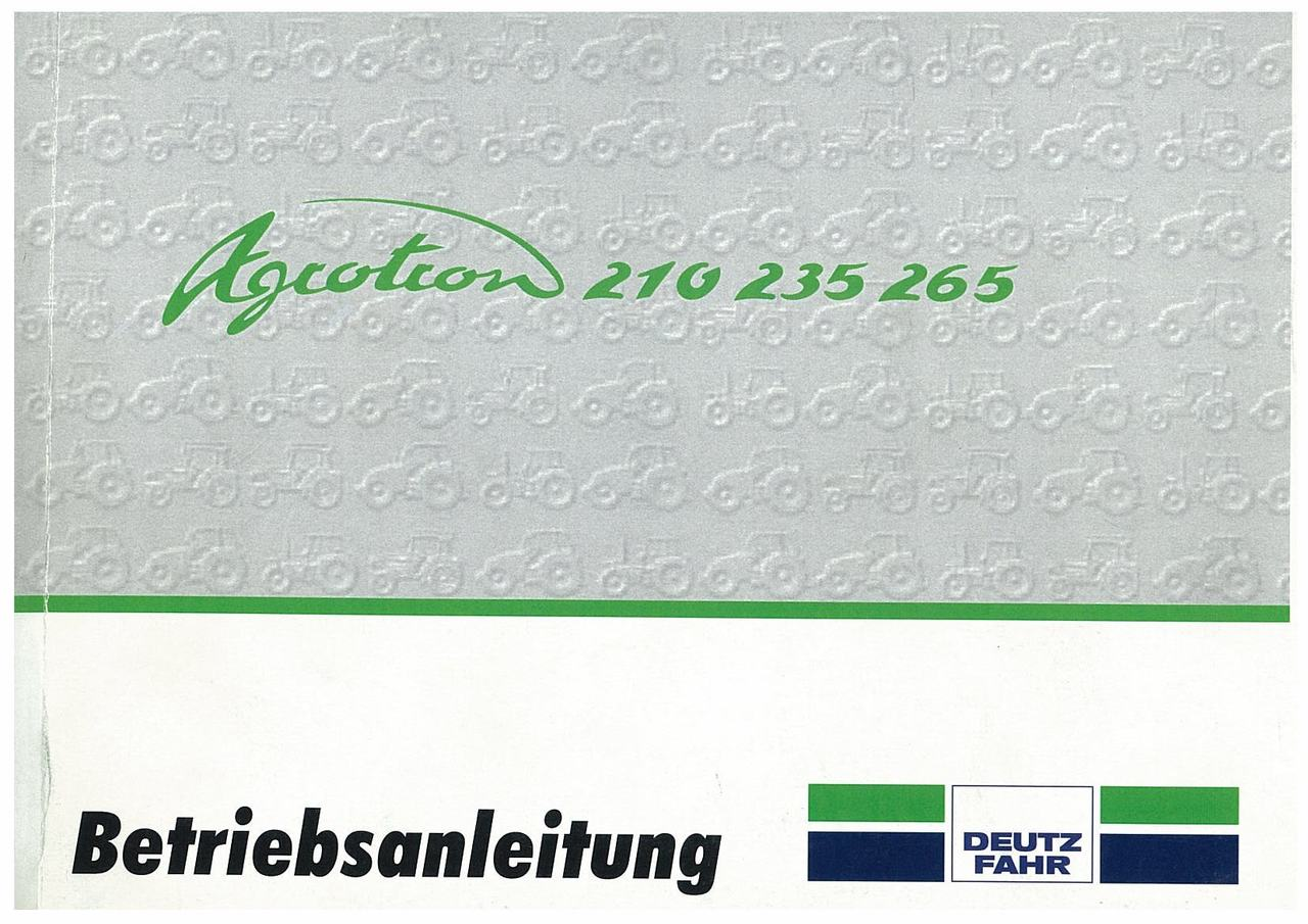AGROTRON 210-235-265 - Betriebsanleitung