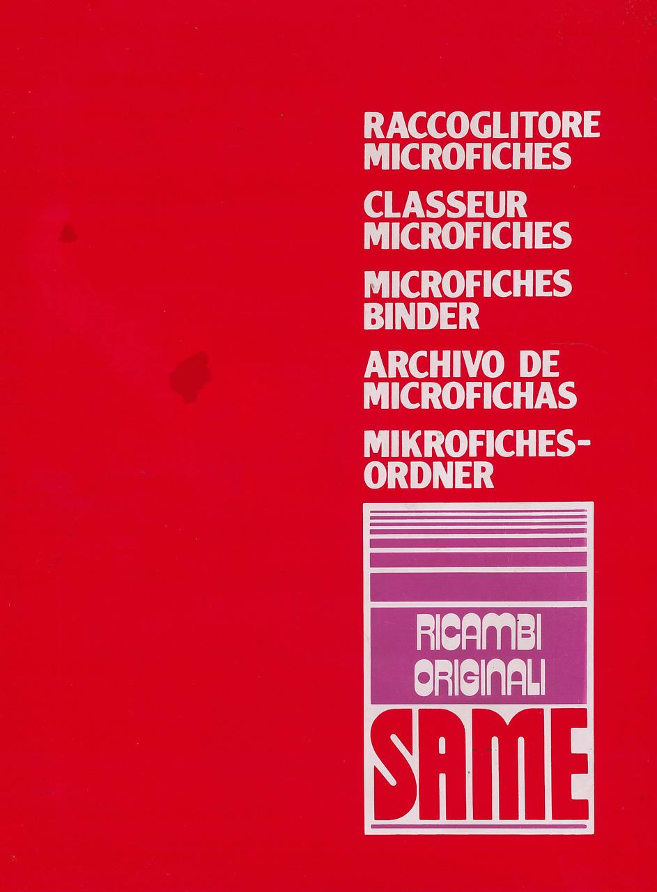 RACCOGLITORE MICROFICHES SAME