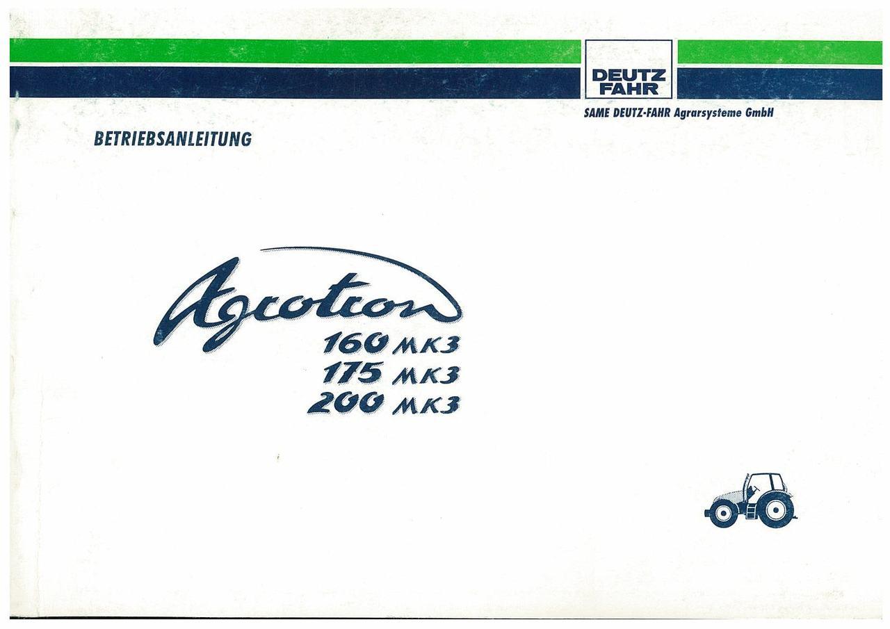 AGROTRON MK3 160-175-200 - Betriebsanleitung