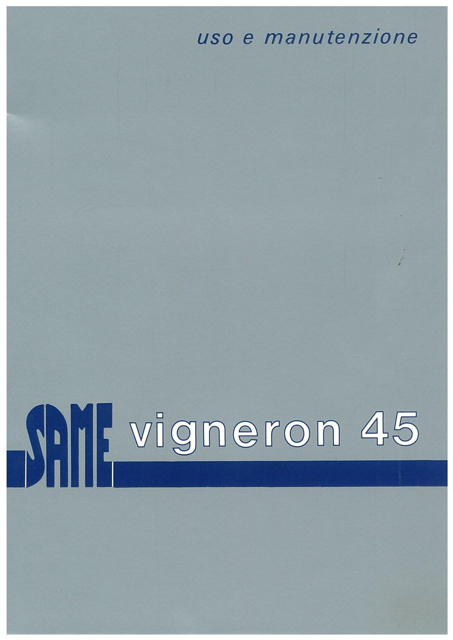 VIGNERON 45 - Libretto uso & manutenzione