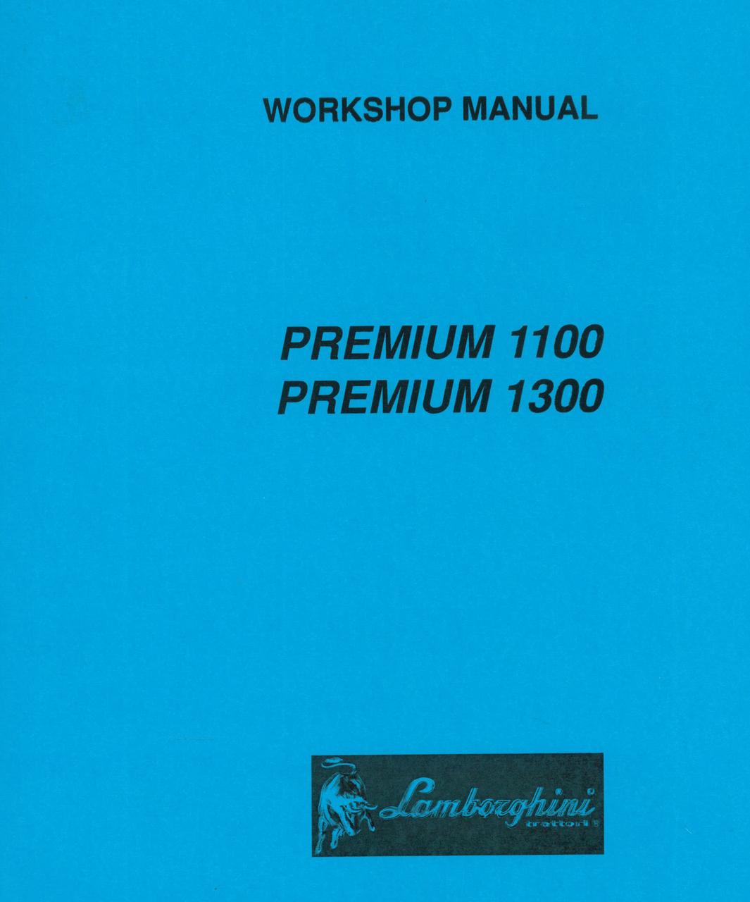 PREMIUM 1100 - 1300 - Workshop manual