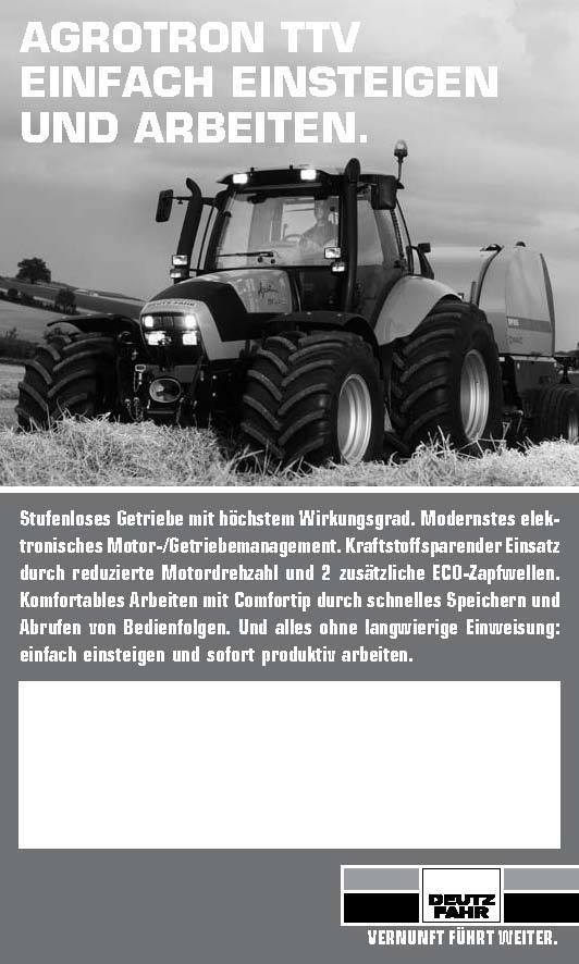 AGROTRON TTV / EINFACH EINSTEIGEN / UND ARBEITEN.