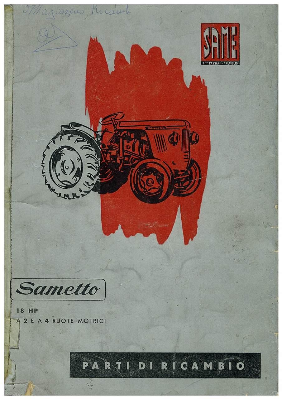 SAMETTO 18 HP - Catalogo Parti di Ricambio