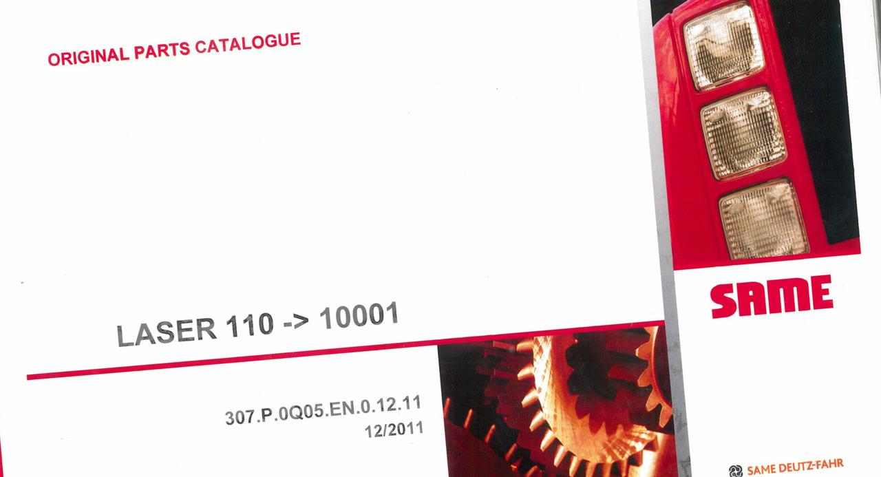 LASER 110 -> 10001 - Original parts catalogue