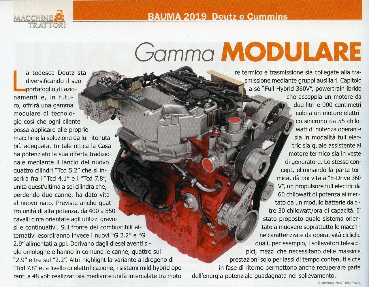 Gamma modulare