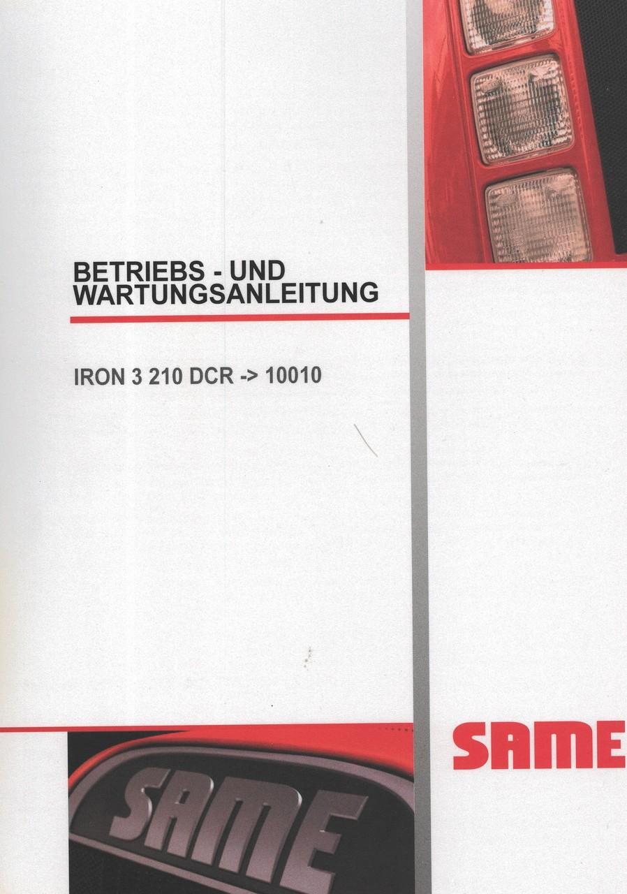IRON 3 210 DCR ->10010 - Betriebs - und Wartungsanleitung