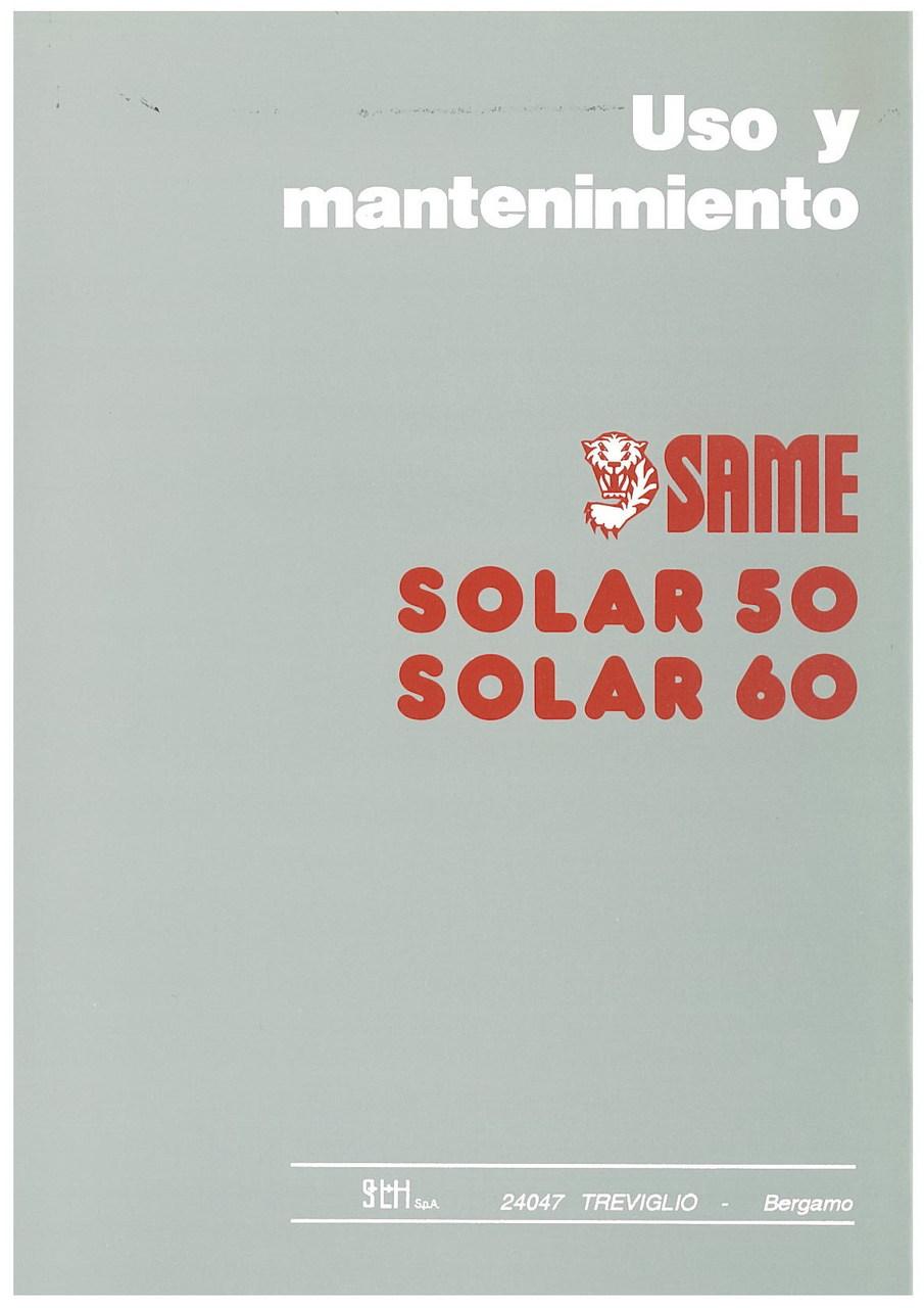 SOLAR 50 - SOLAR 60 - Uso y manutencion