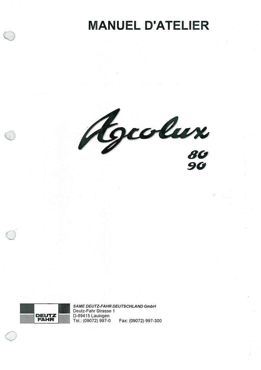 AGROLUX 80 - AGROLUX 90 - Manuel d'atelier