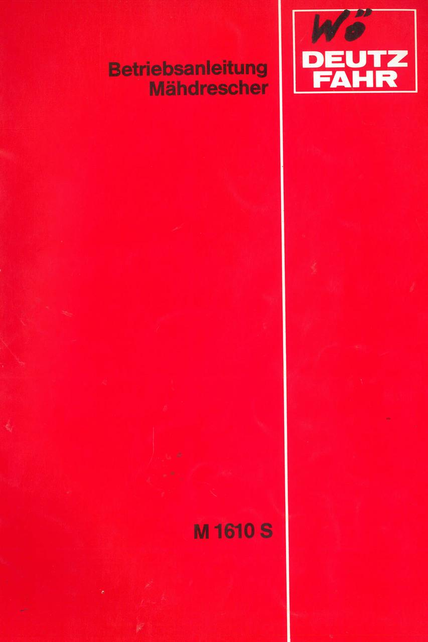 M 1610 S - Betriebsanleitung