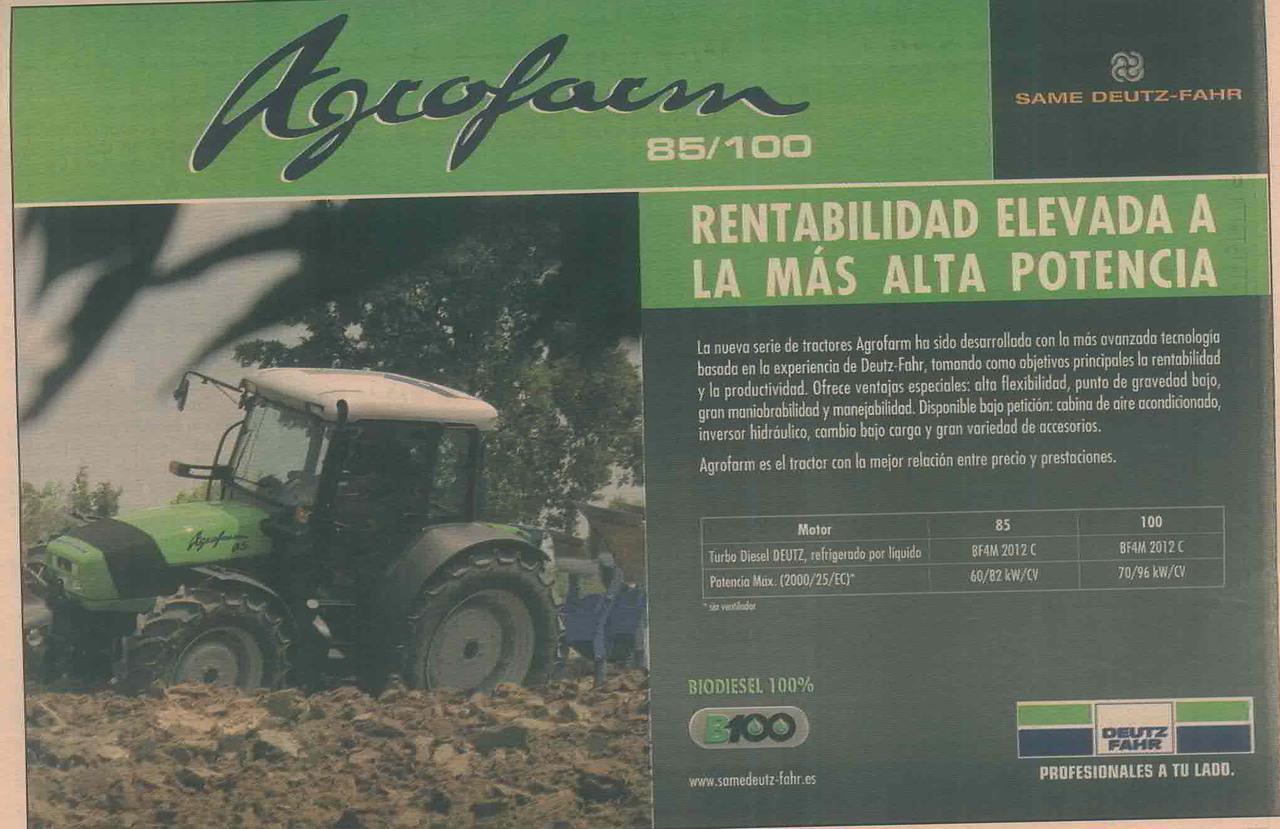AGROFARM 85 - 100 Rentabilidad elevada a la mas alta potencia