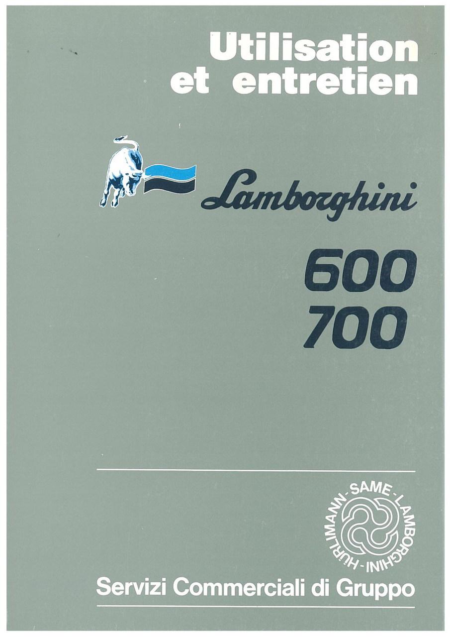 600/700 - Utilisation et Entretien