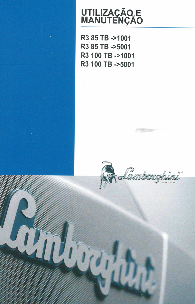 R3 85 TB ->1001 - R3 85 TB ->5001 - R3 100 TB ->1001 - R3 100 TB ->5001 - Utilização e manutenção