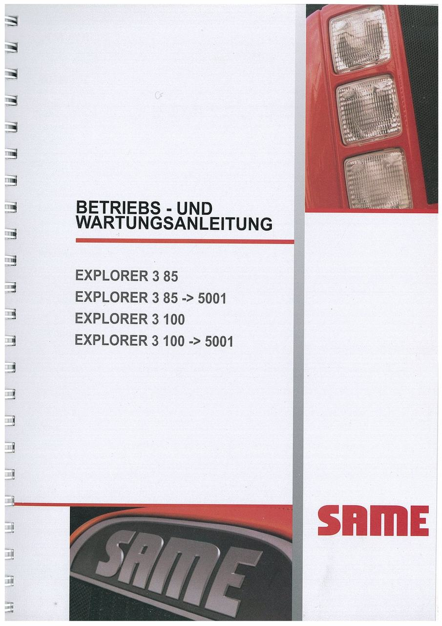 EXPLORER 3 85 - 3 100 - Bedienung und instandhalthung