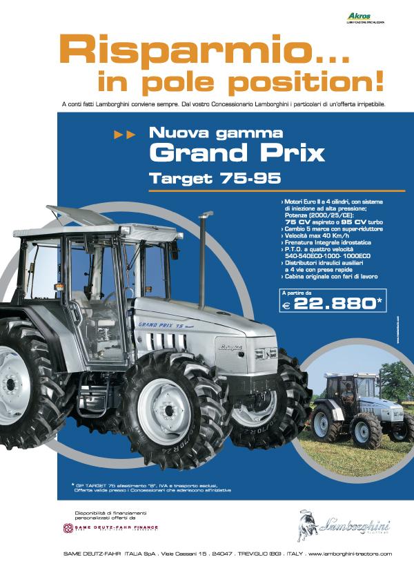 Risparmio .... in pole position. Nuova gamma GRAND PRIX 75-95