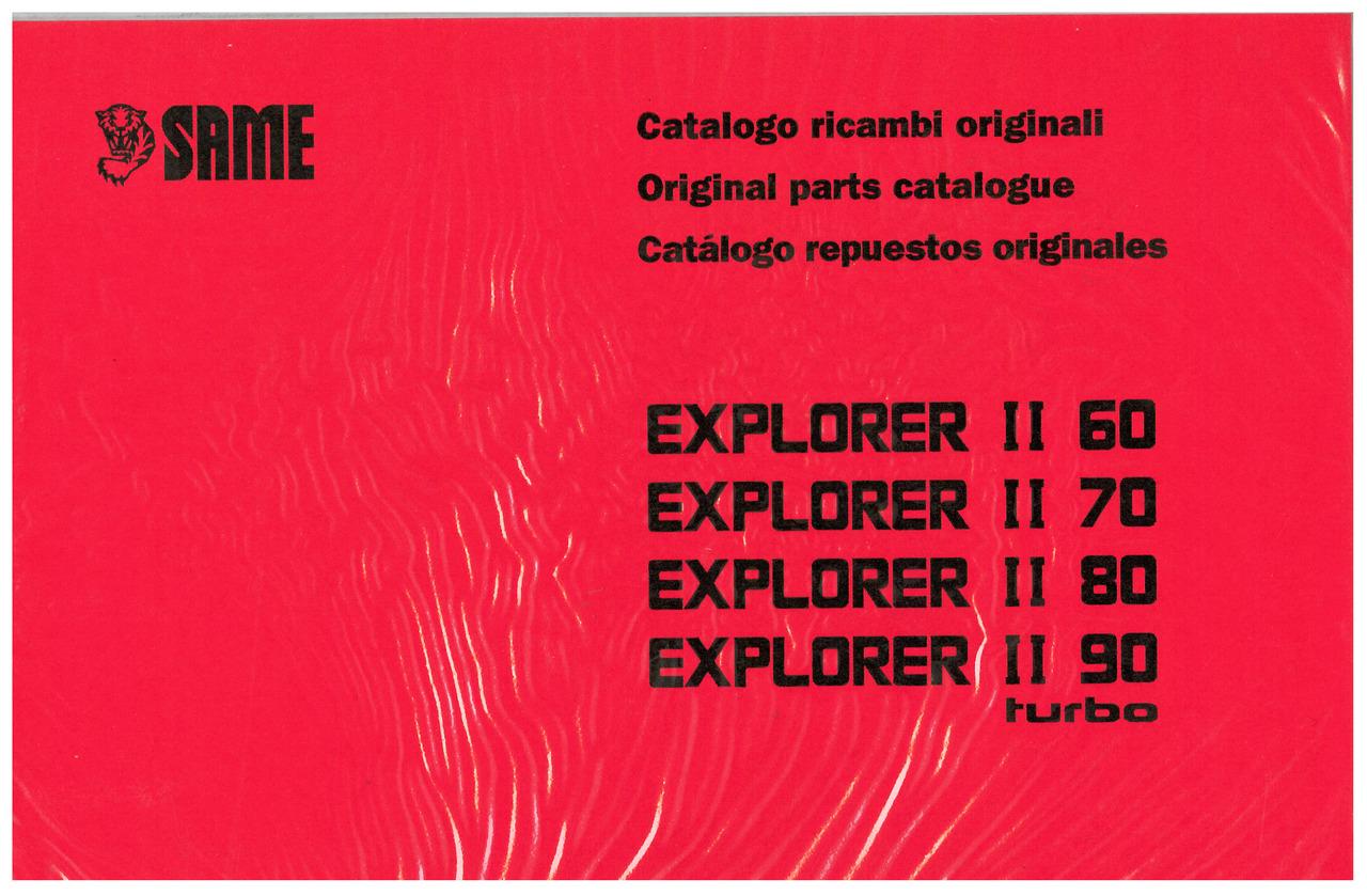 EXPLORER II 60-70-80-90 TURBO - Catalogo Parti di Ricambio / Spare parts catalogue / Lista de repuestos