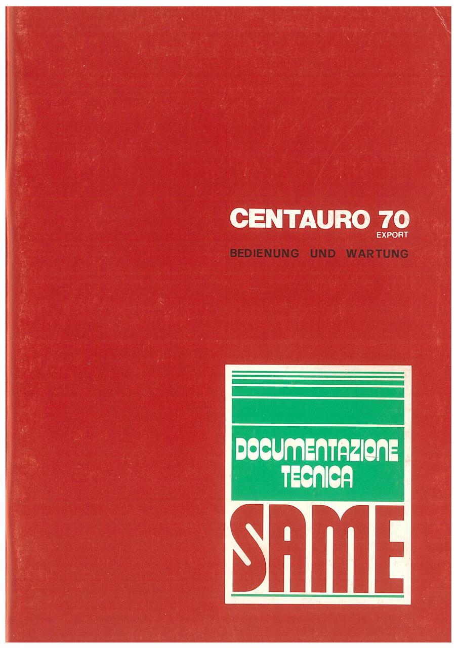 CENTAURO 70 EXPORT - Bedienung und wartung
