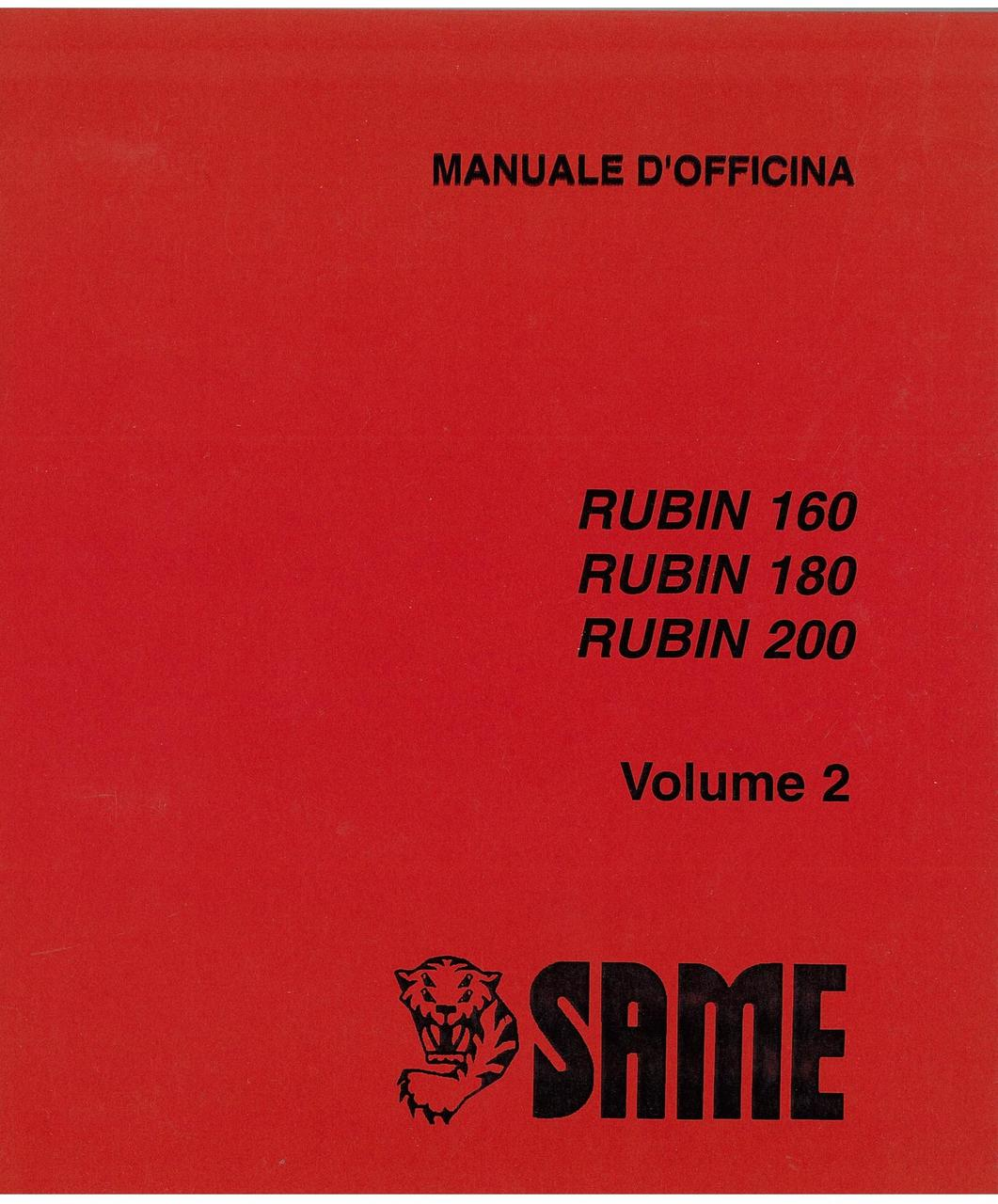 RUBIN 160 - 180 - 200 - VOLUME 2 - Manuale d'officina