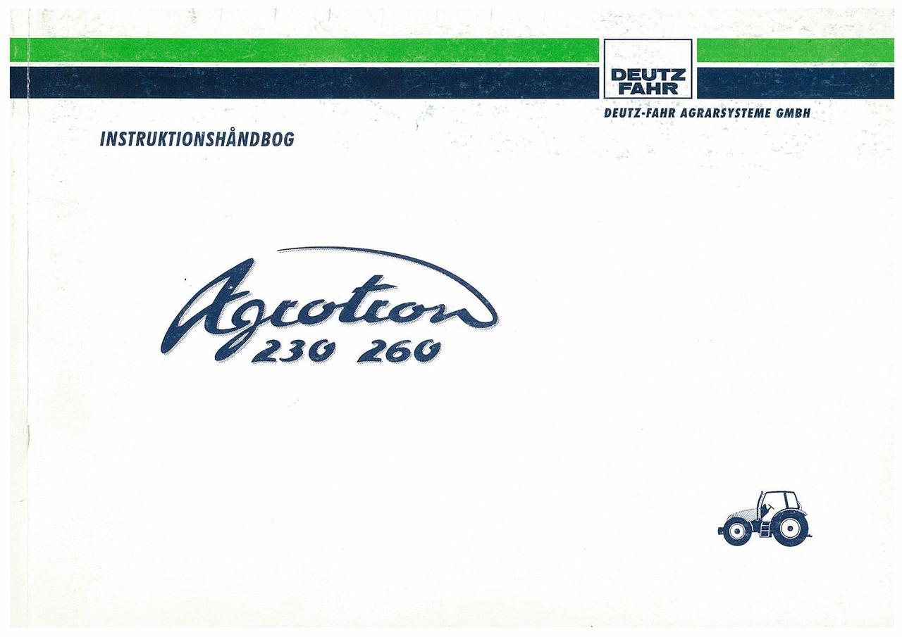 AGROTRON 230-260 - Bruger-og vedligeholdelsesvejledning