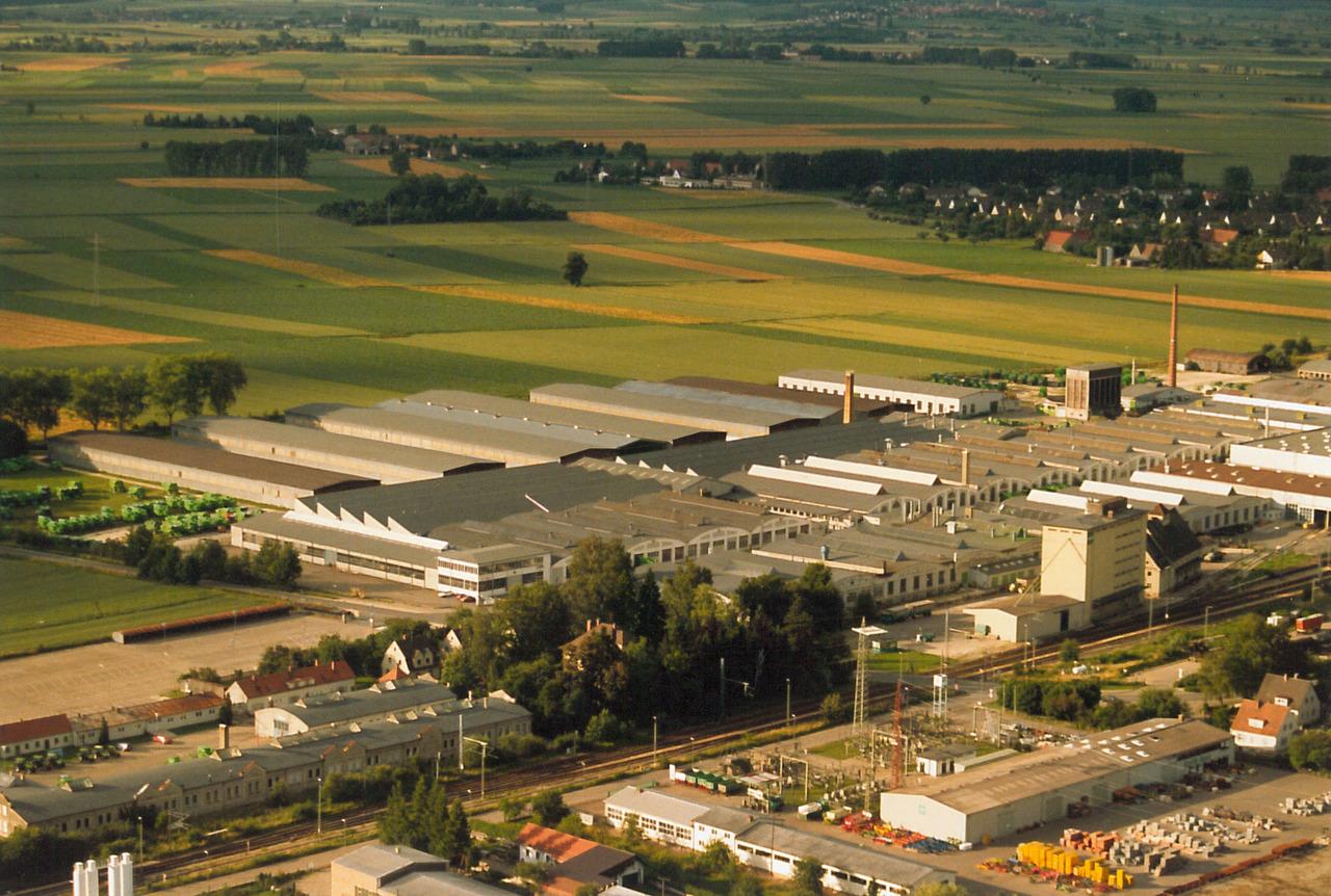 Stabilimento Deutz-Fahr a Lauingen - Visuale aerea