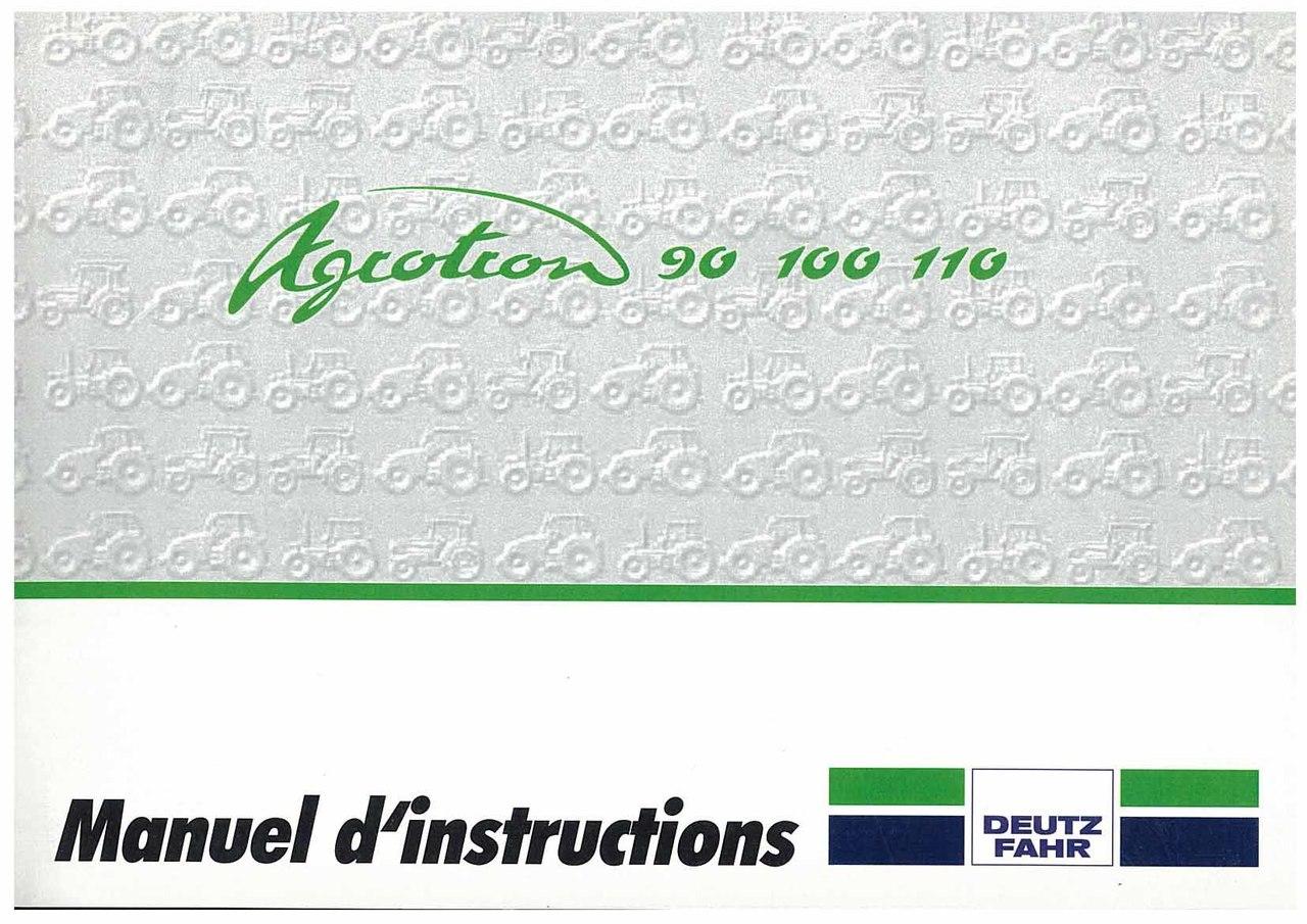 AGROTRON 90-100-110 - Utilisation et Entretien