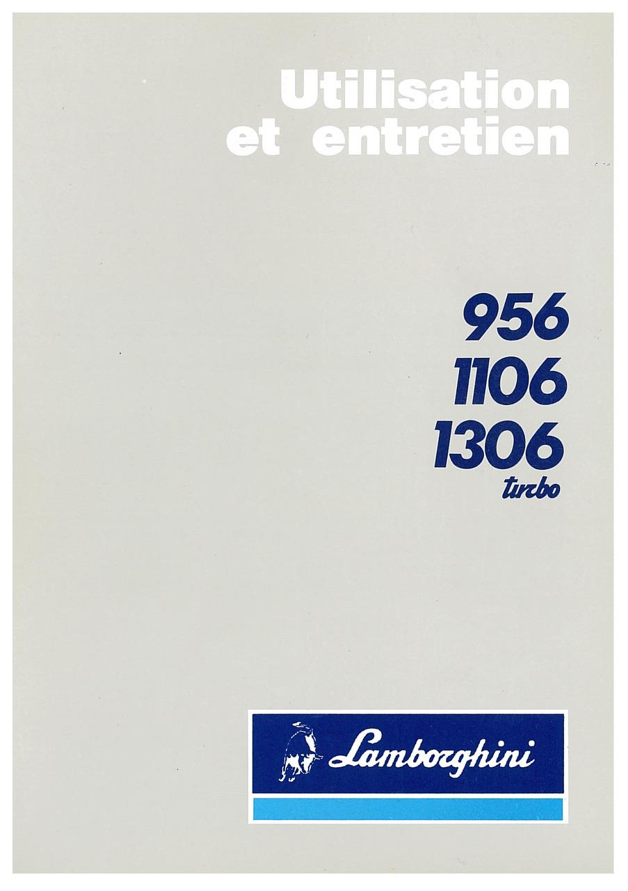 956-1106-1306 TURBO - Utilisation et Entretien
