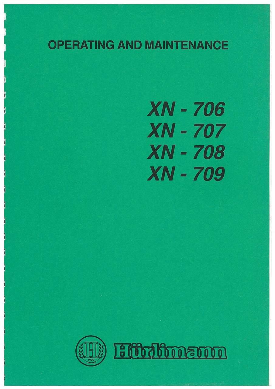 XN 706-707-708-809 - Operating and Maintenance