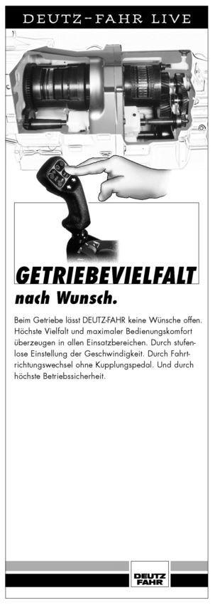 DEUTZ-FAHR LIVE, Getriebevielfalt nach Wunsch.