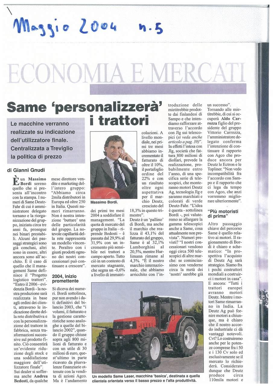 """SAME """"personalizzerà"""" i trattori"""