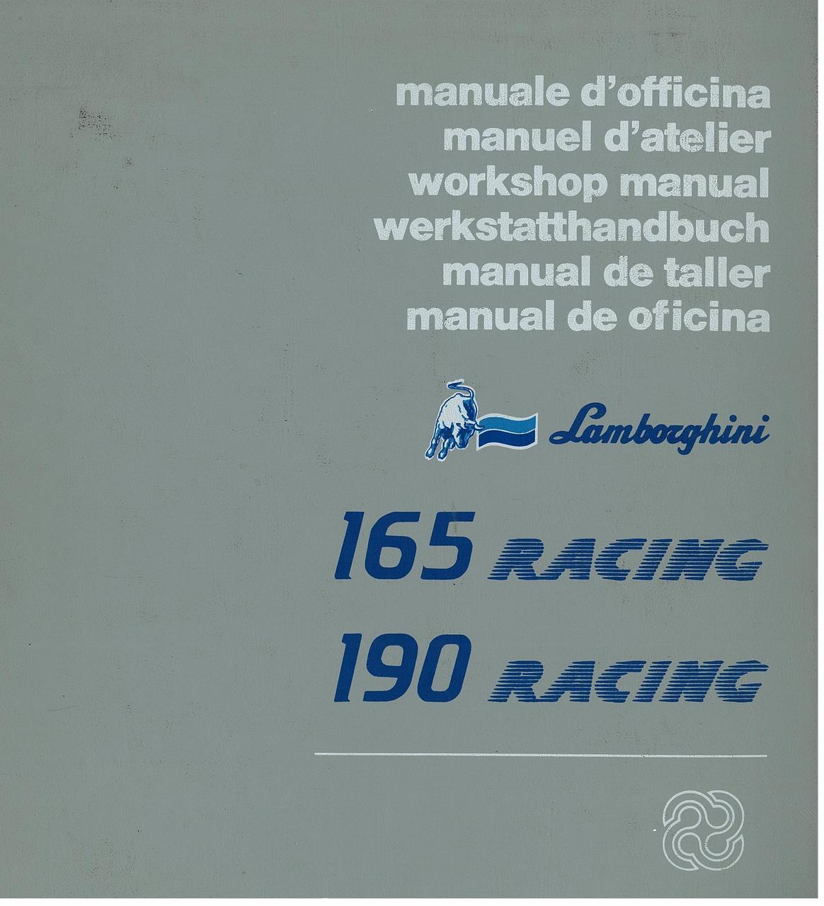 165 RACING - 190 RACING - Manuale d'Officina
