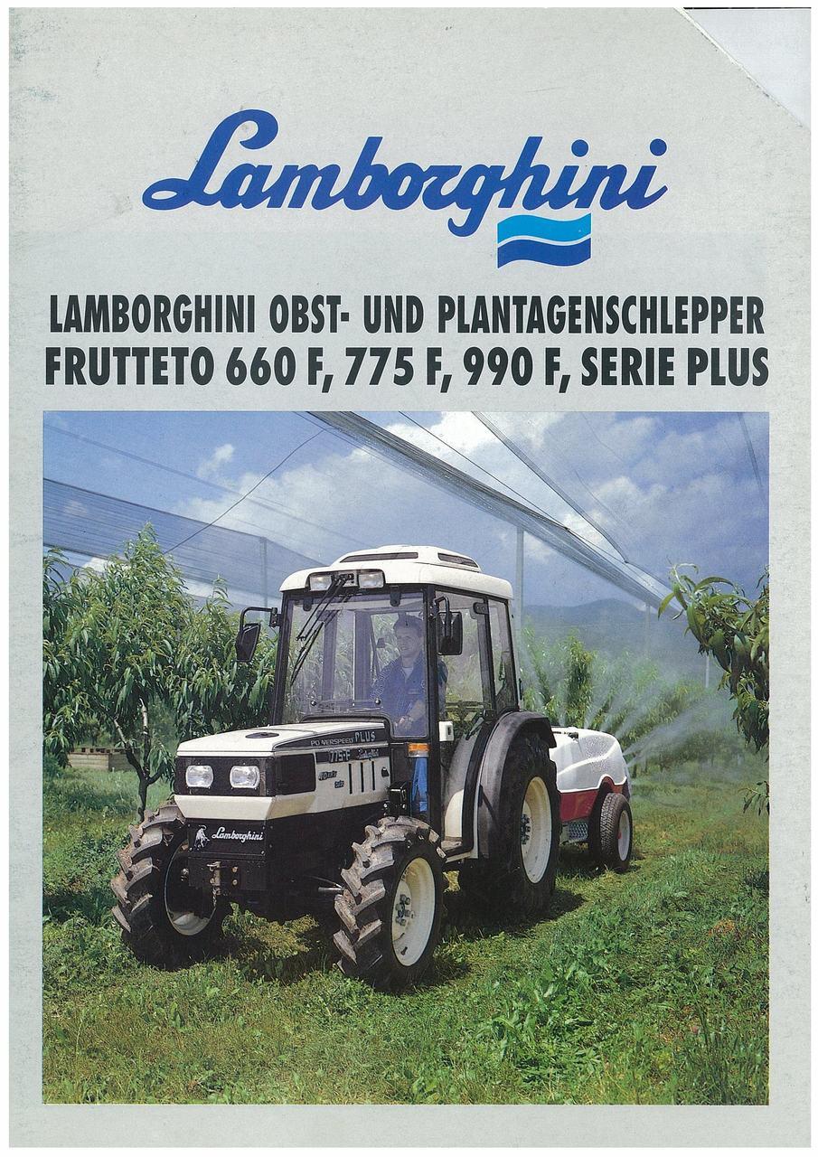Lamborghini Obst und Plantagenschlepper Frutteto 660F,775F,990F Serie Plus