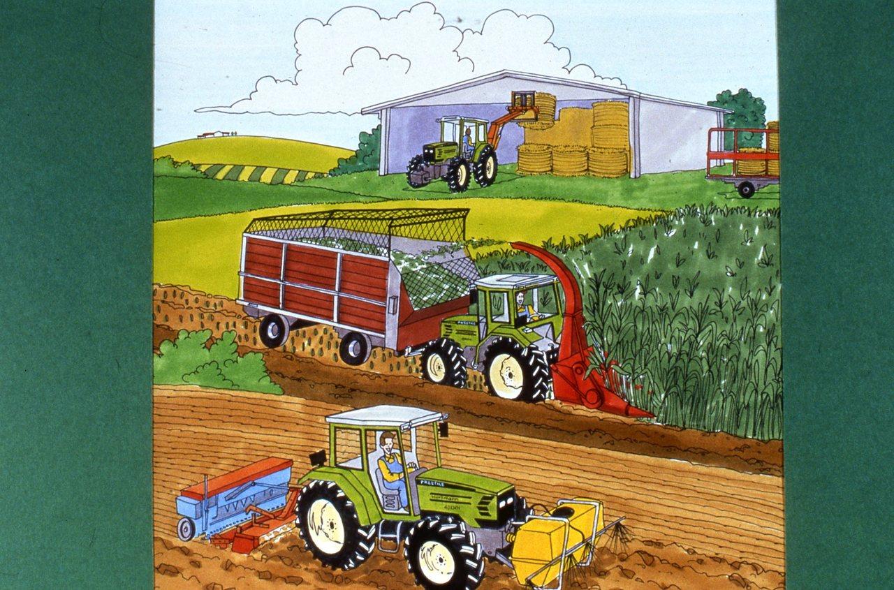 [Hürlimann] trattori a fumetti