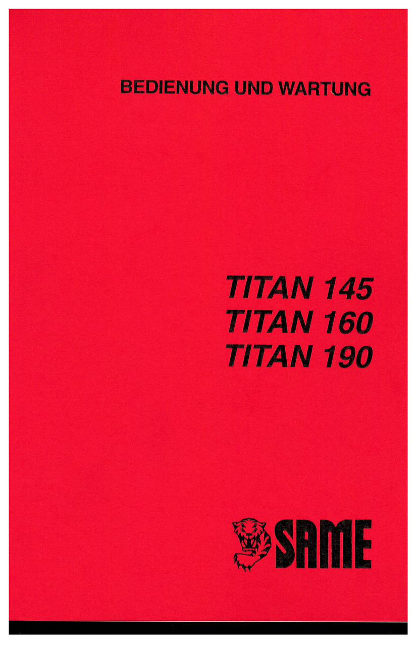 TITAN 145-160-190 - Bedienung und instandhalthung