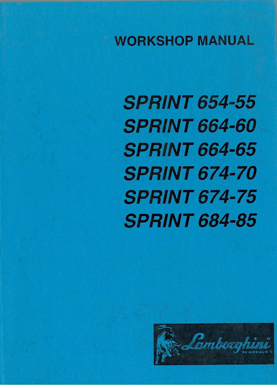 SPRINT 654.55 - 664.60 - 664.65 - 674.70 - 674.75 - 684.85 - Workshop Manual