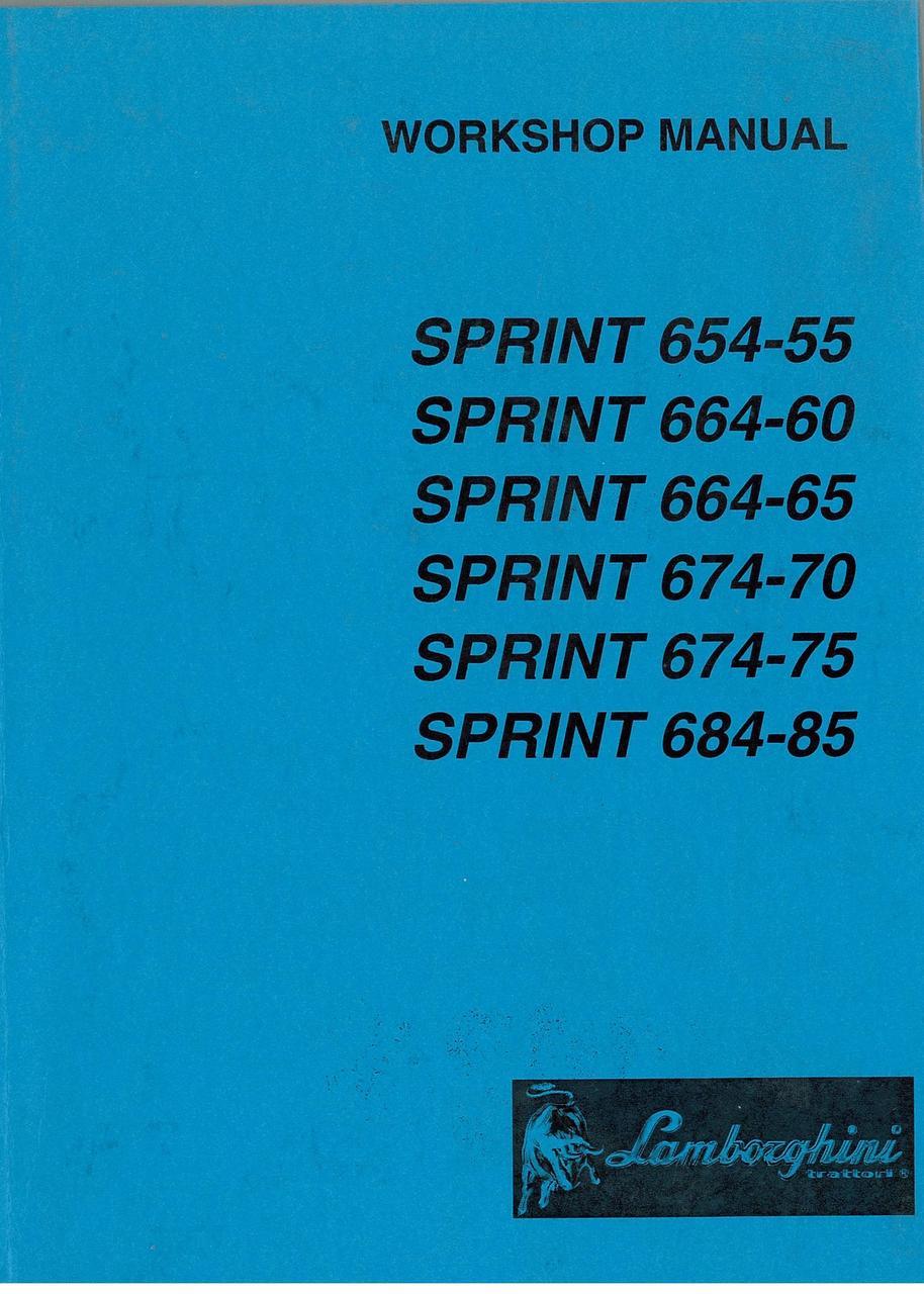 SPRINT 654.55 - 664.60 - 664.65 - 674.70 - 674.75 - 684.85 - Workshop Manual