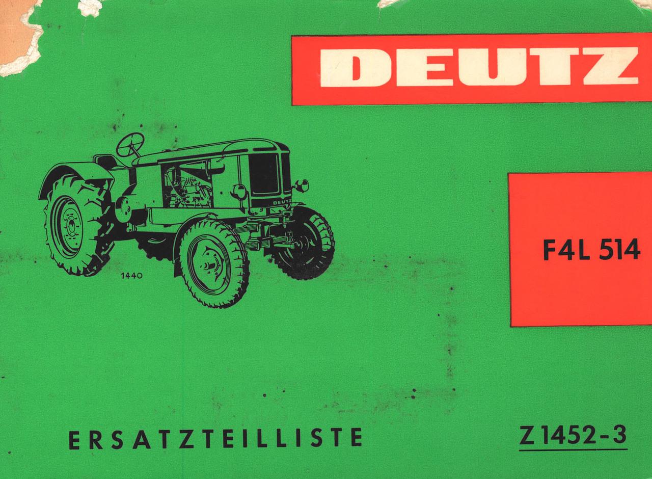 F4L 514 - Ersatzeilliste gültig ab Schlepper nr. 7908/1334