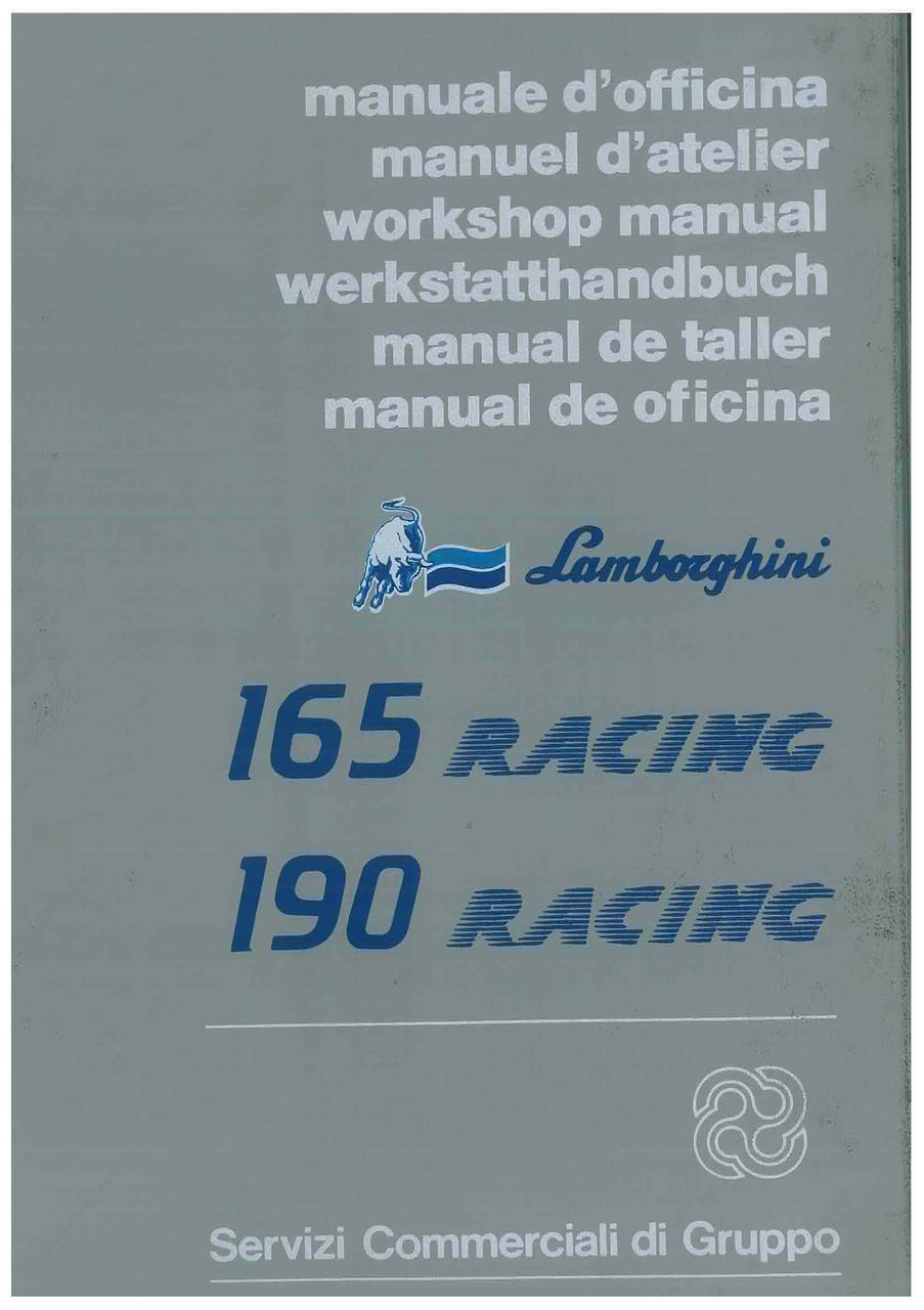 165 RACING - 190 RACING - Workshop Manual