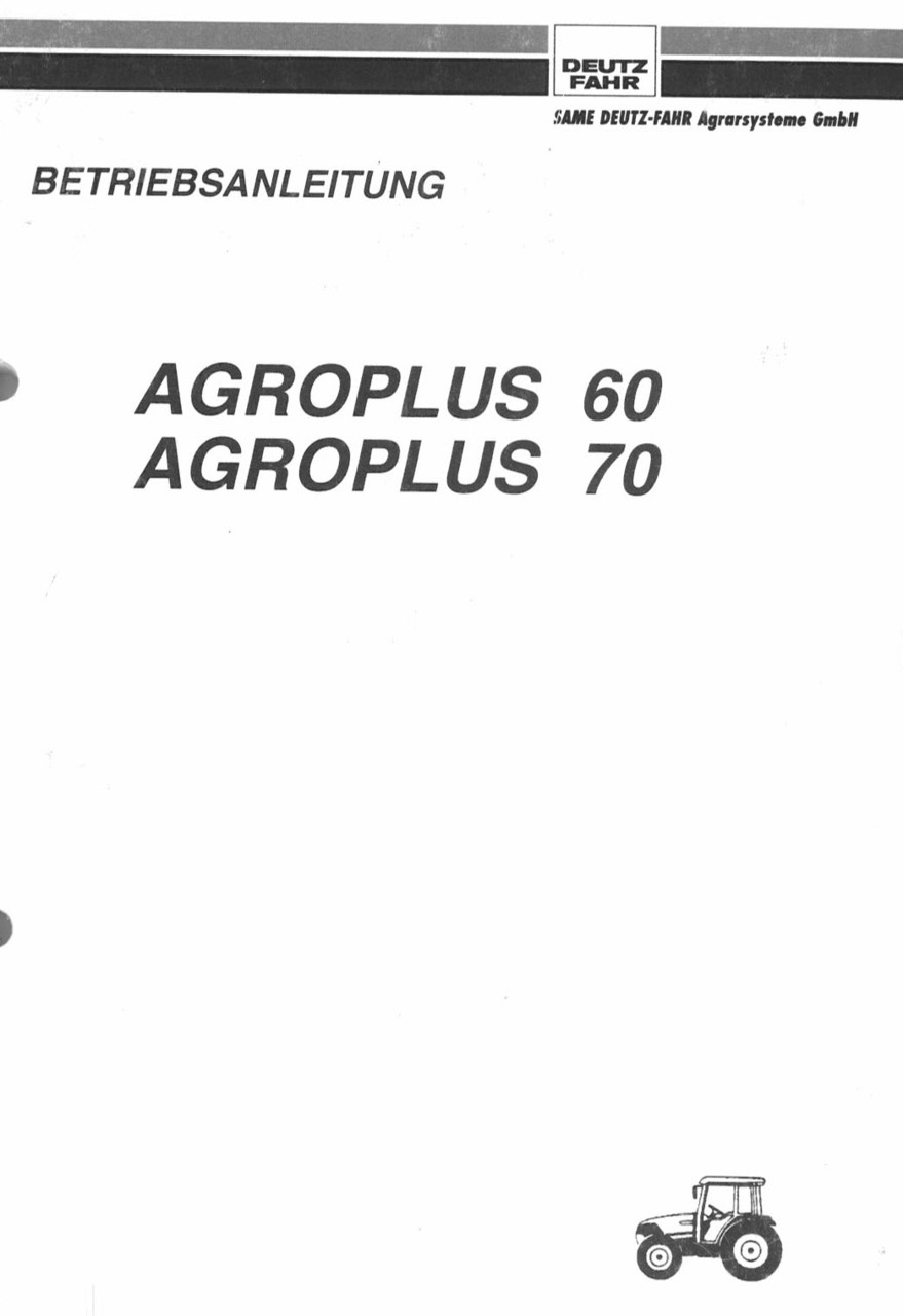 AGROPLUS 60 - 70 - Betriebsanleitung