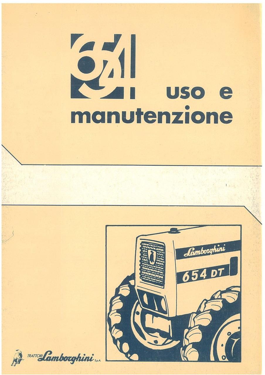 654 - Libretto uso & manutenzione