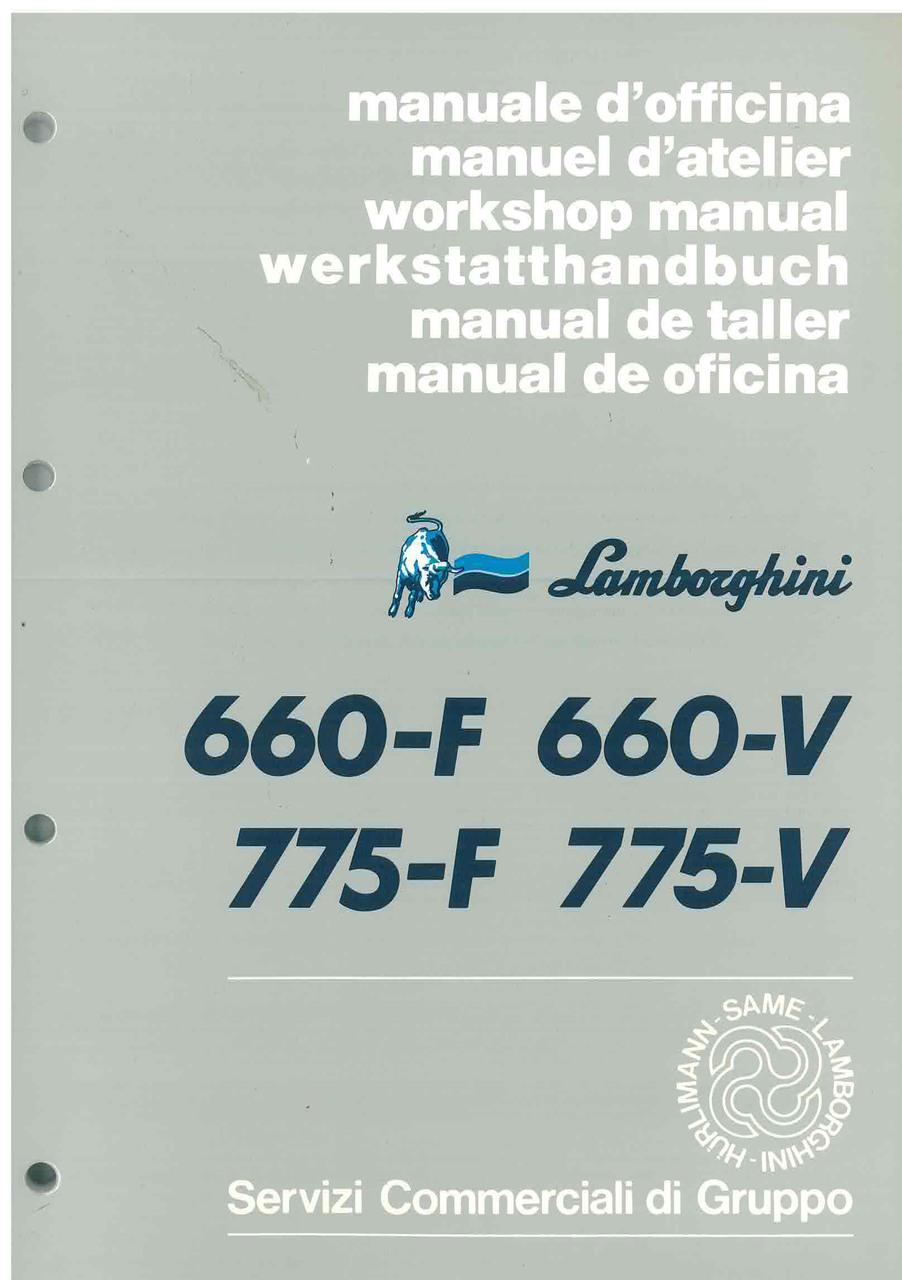 660 F - 660 V - 775 F - 775 V - Manuale d'Officina