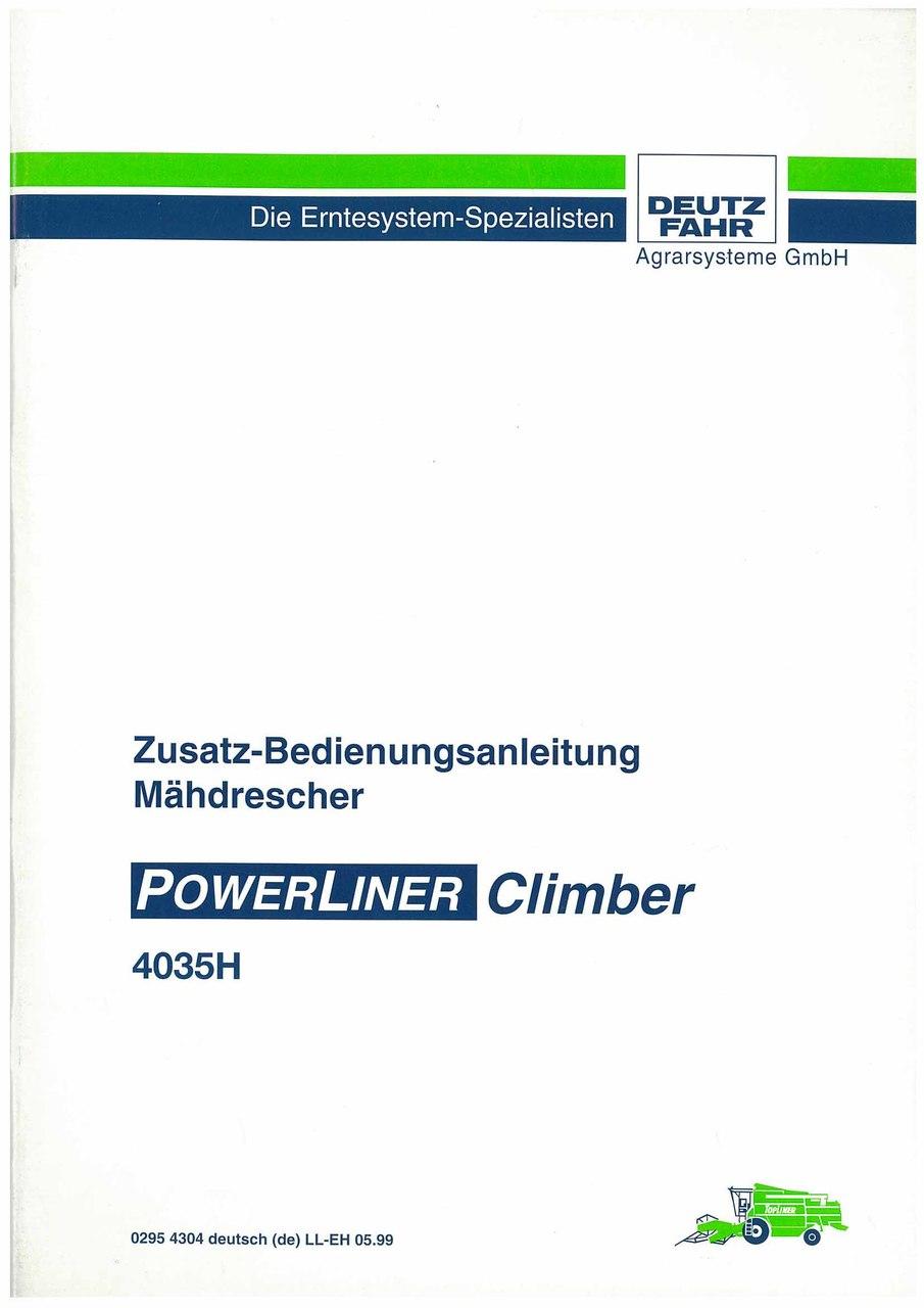 POWERLINER CLIMBER 4035H - Betriebsanleitung